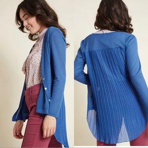 ModCloth Compania Fantastica Blue Chiffon Cardigan